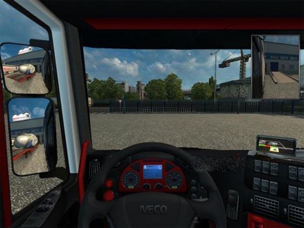 Iveco Stralis Black Red Interior
