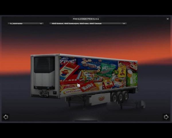 Kras trailer refrigerated trailer V1.1