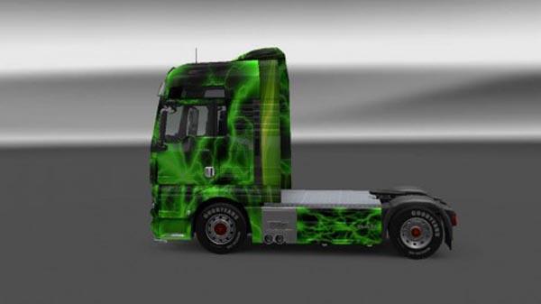 MAN TGX Green Storm Skin