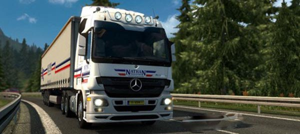 Mercedes Actros 2009 Roof Bar