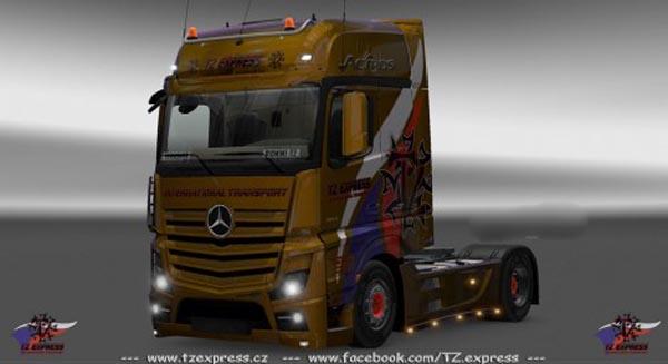Mercedes Actros MP4 2014 TZ Express Skin