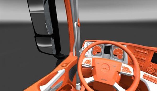 Mercedes Actros MP4 Orange Interior