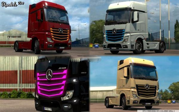 Mercedes MP4 New Actros 2014 Colored Grill 2