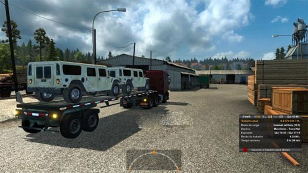 Military Hummer trailer