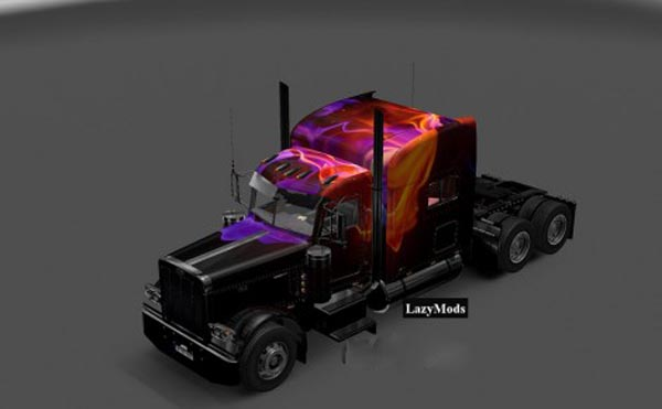 Peterbilt 389 Modified Abstract Flames Skin
