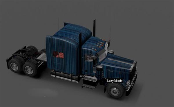 Peterbilt 389 Modified Abstract Striped Skin