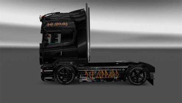 Scania RJL Def Leppard Skin