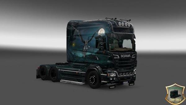 Scania RJL Longline Raven Skin