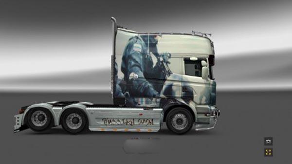Scania RJL Riot Police Skin