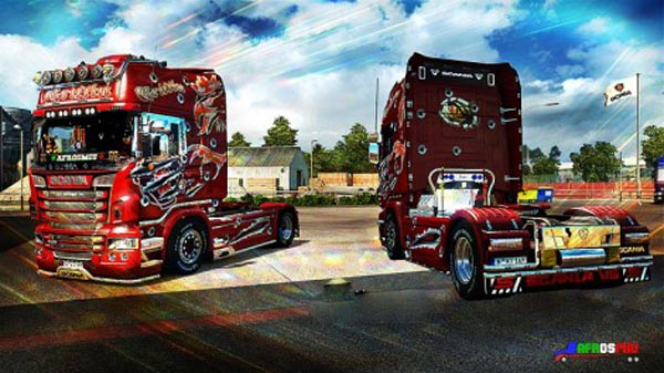 Scania Red Griffin Skin