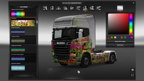 Scania Streamline Flowers Skin
