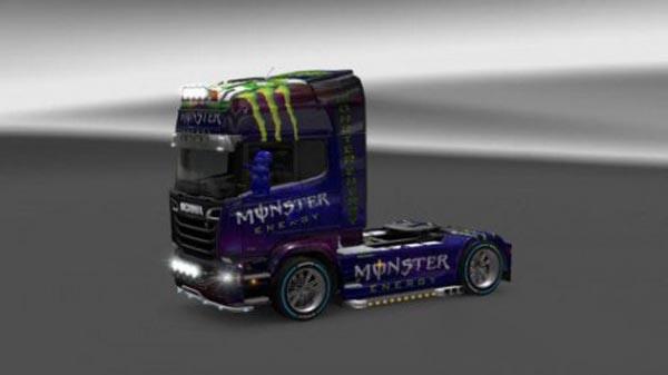 Scania Streamline Monster Energy Skin