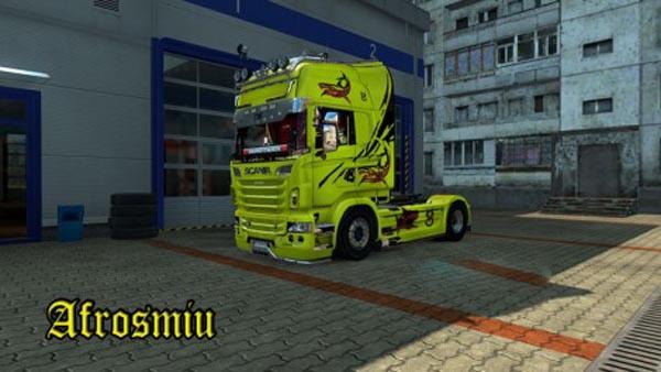 Scania Yellow Shark Skin