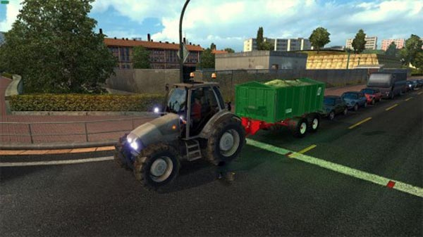 Tractor and Trailers in Traffic