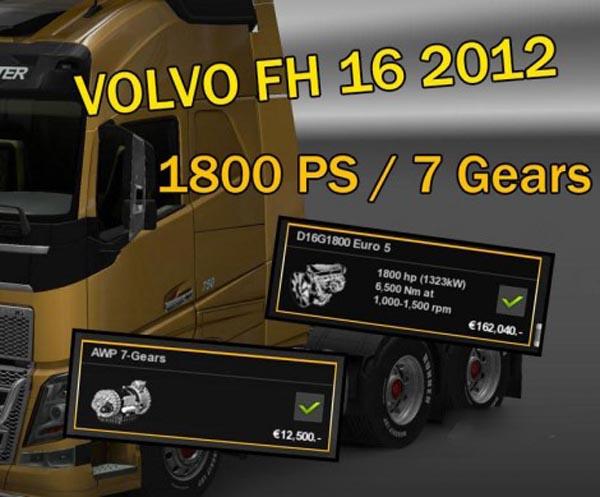 Volvo FH 16 2012 1800 HP