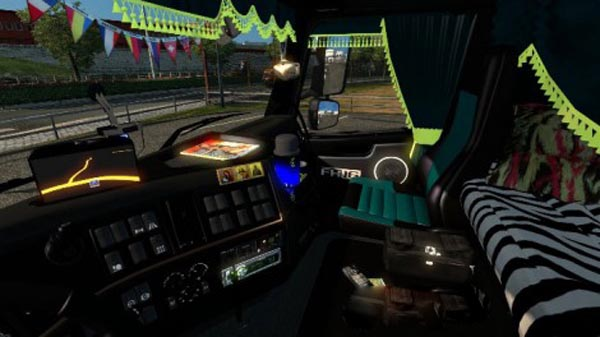 Volvo FH16 Black Tuning Interior