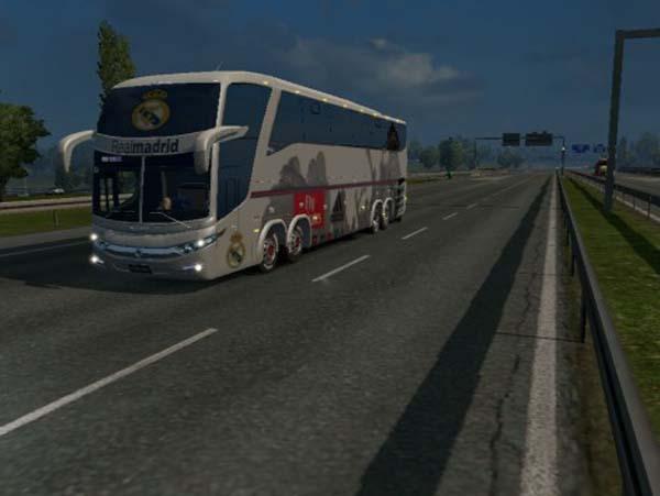 Bus Macropolo G7 1600LD Real Madrid Skin