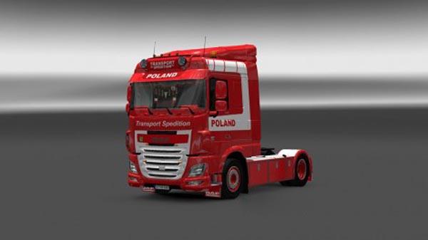 DAF XF Euro 6 Ohaha TS Poland Skin + Wheels