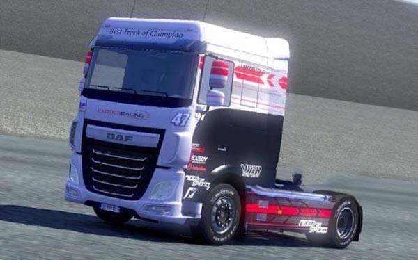 Daf XF Euro 6 racing skin