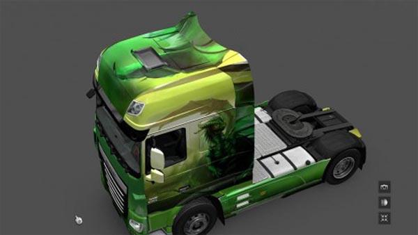 Green Dragon Skin for DAF Euro 6