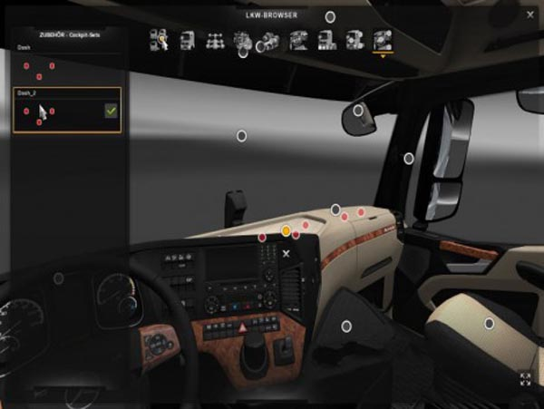 Mercedes Actros 2014 More Slots In Cabin