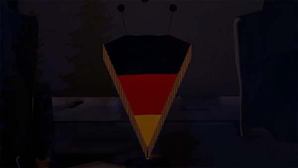NEW Pennant Model For Germany Flag