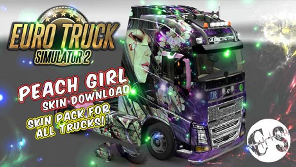 Peach Girl Skin Pack for All Trucks