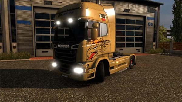 Scania R Streamline Griffin Gold
