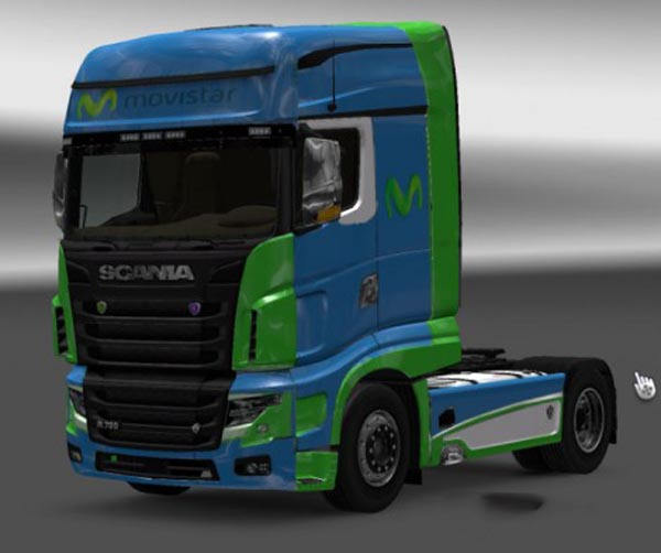 Scania R700 Movistar Skin