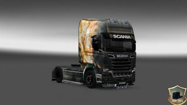 Scania Streamline Fire Dragon Skin