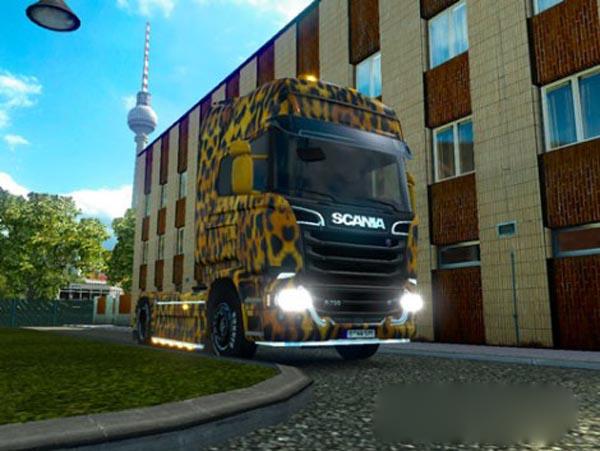 Scania Streamline Leopard Skin