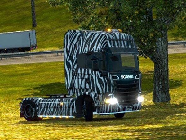 Scania Zebra Skin