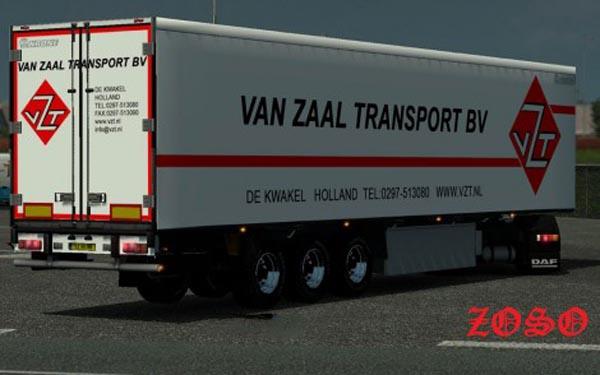 Van Zaal Transport Trailer