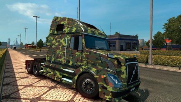Volvo VNL 670 Army Skin