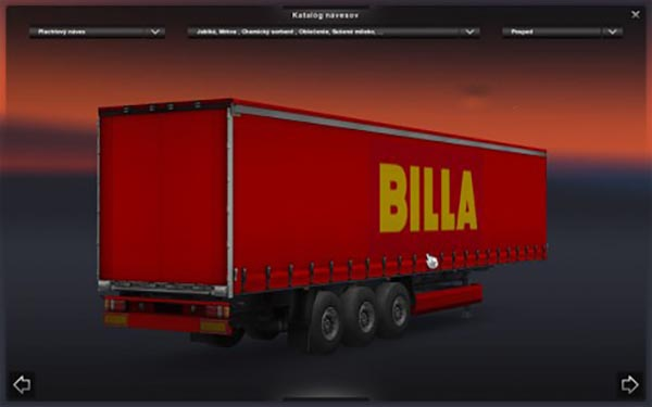 Billa trailer