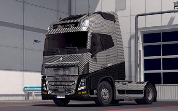 Carbon Fiber Skin for both SCS Volvo FH 2012 and ohahas Volvo FH 2013