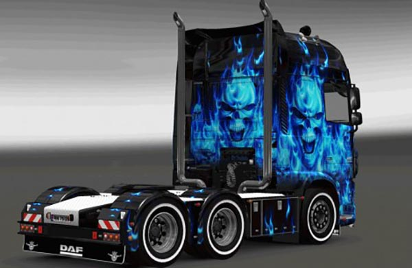 DAF XF Euro 6 Blue Paint Jobs