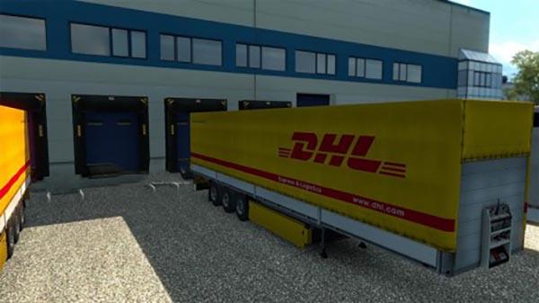 DHL Trailer Skin + 47 Cargo Pack