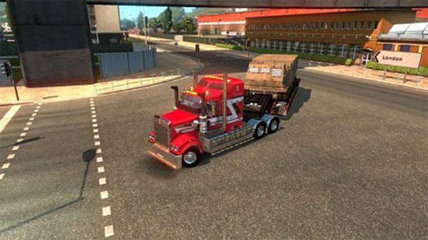 Kenworth T908 The Lady In Red Skin