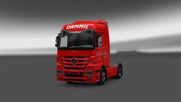 Mercedes Actros MP3 Dammil Skin