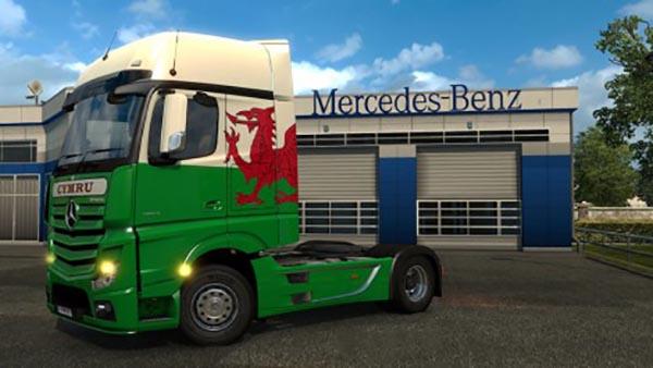 Mercedes Benz Actros MP4 Cymru Wales Skin