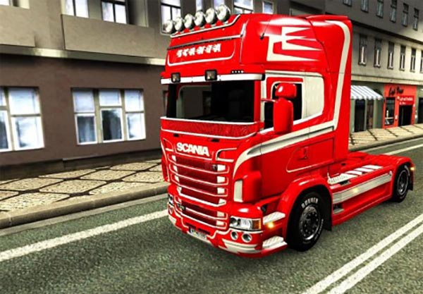Orange and White skin for Scania RJL