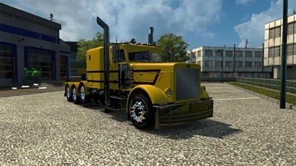 Peterbilt 389 Yellow Custom Skin