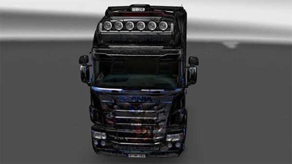 Scania R, Streamline Topline RJL Optimus Prime V8 Skin