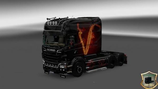 Scania RJL Longline Vendetta Skin