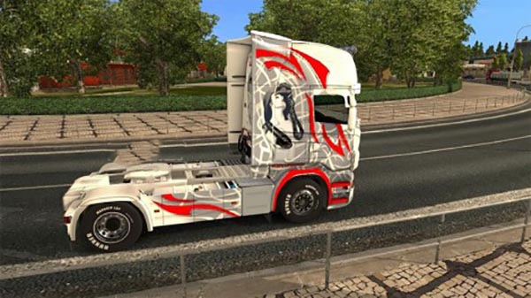 Scania RJL Red Rose Skin