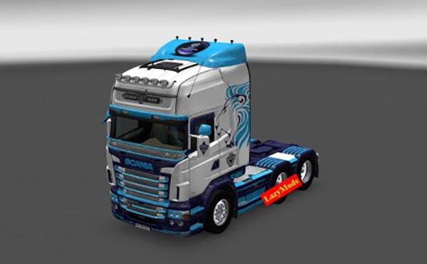 Scania RJL V8 Barclays Skin