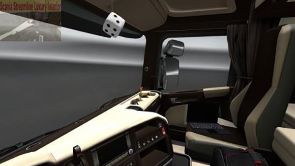 Scania Streamline Brown Cream Interior