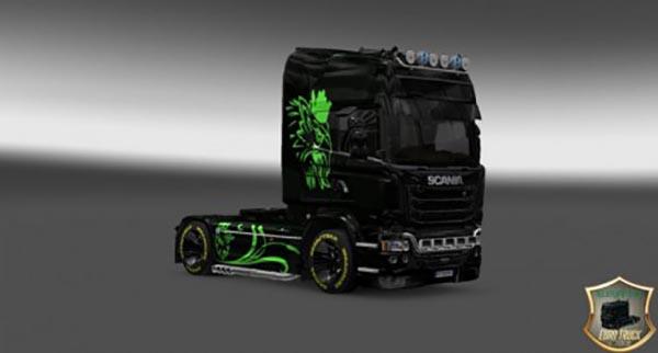 Scania Streamline Green Eagle Skin