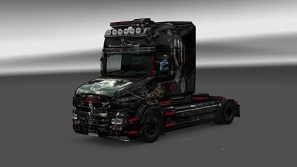 Scania T Topline RJL Grim Reaper Skin